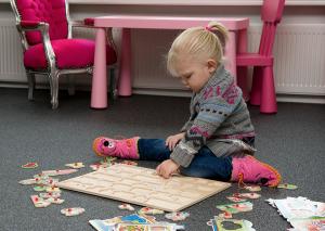 Siergrindvloer in speelkamer